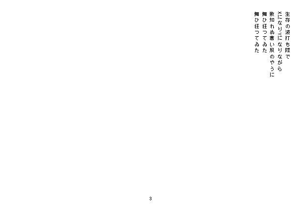 成りゆきの星 野村喜和夫 3